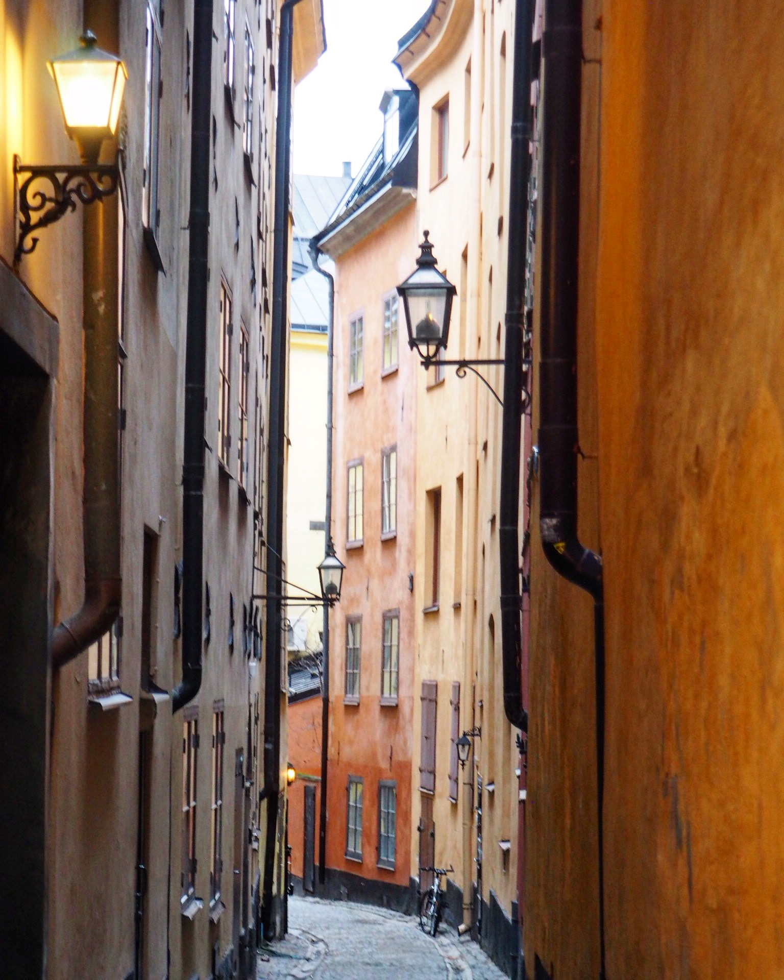 A Single Bicycle in Gamla Stan; Sweden