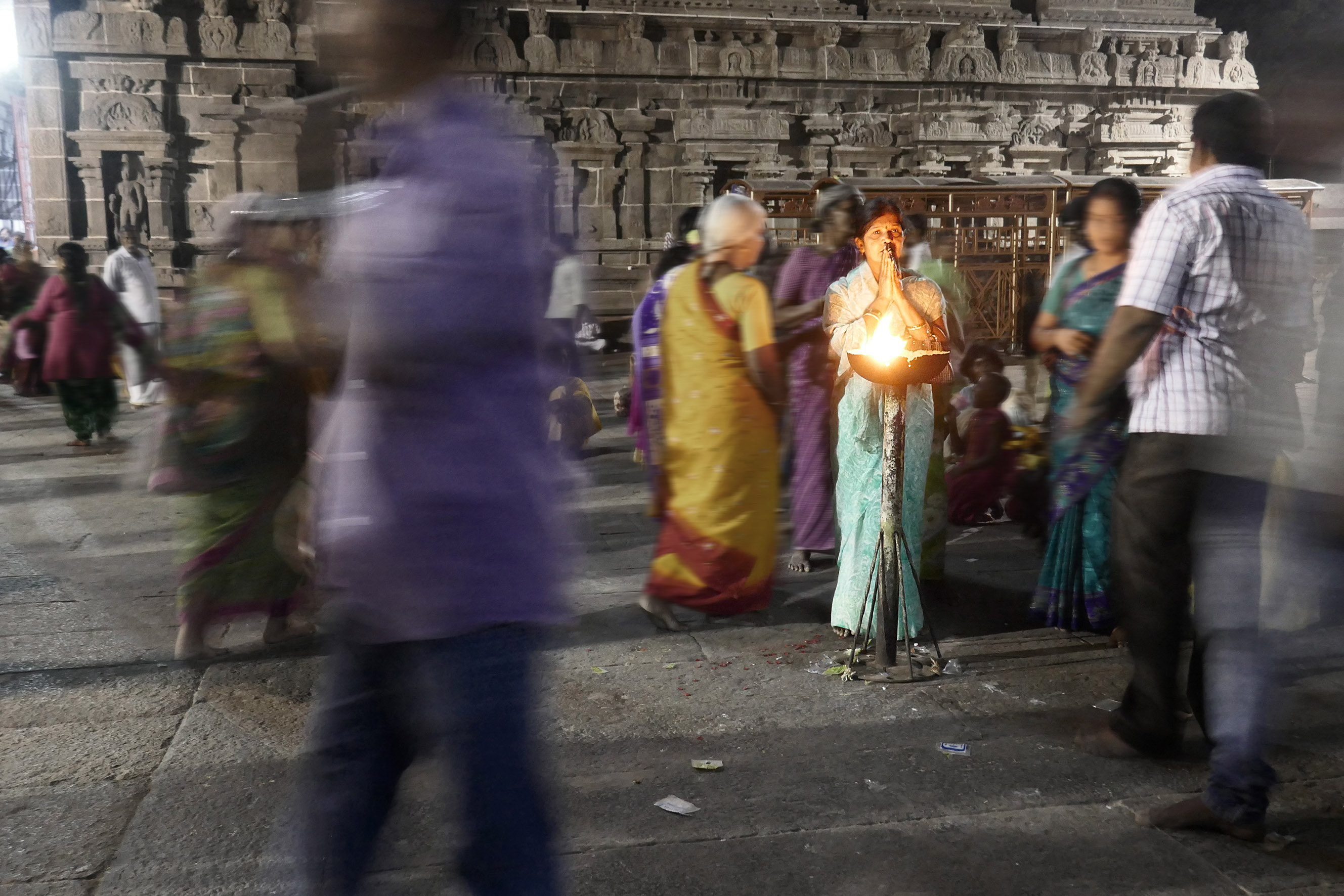 Lady Praying, Hindu temple in India