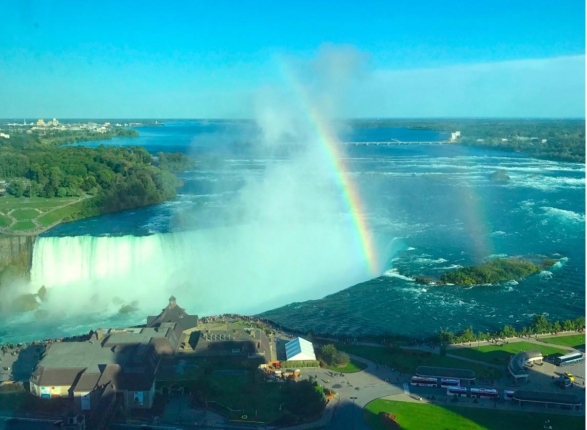 Rainbow over the Beautiful Niagara Falls – Canada