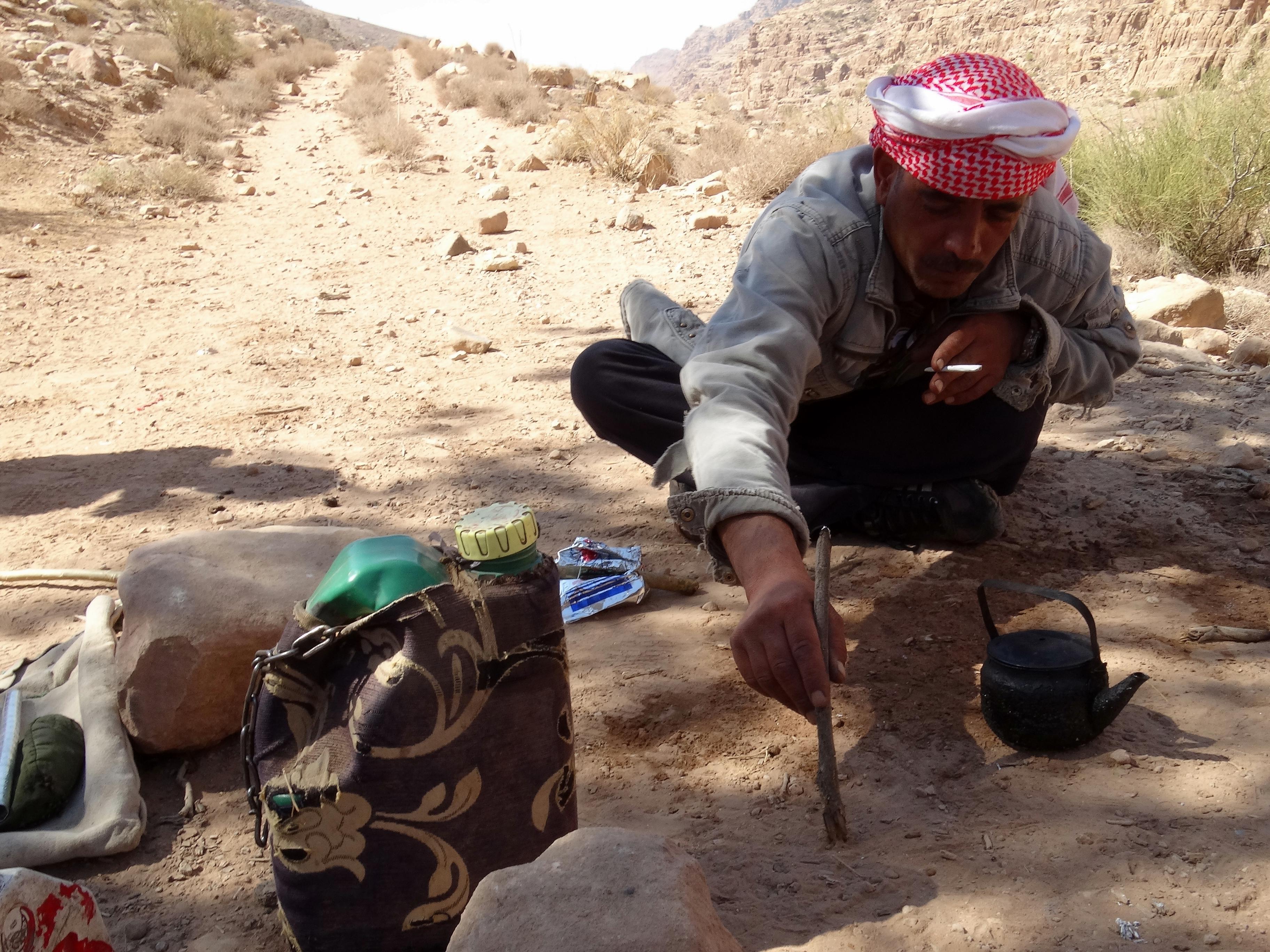 A Bedouin Shepherd in Wadi Dana Valley, Dana Reserve, Jordan