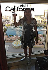 Lisa in Vegas with Virtuoso Travel and Visit California