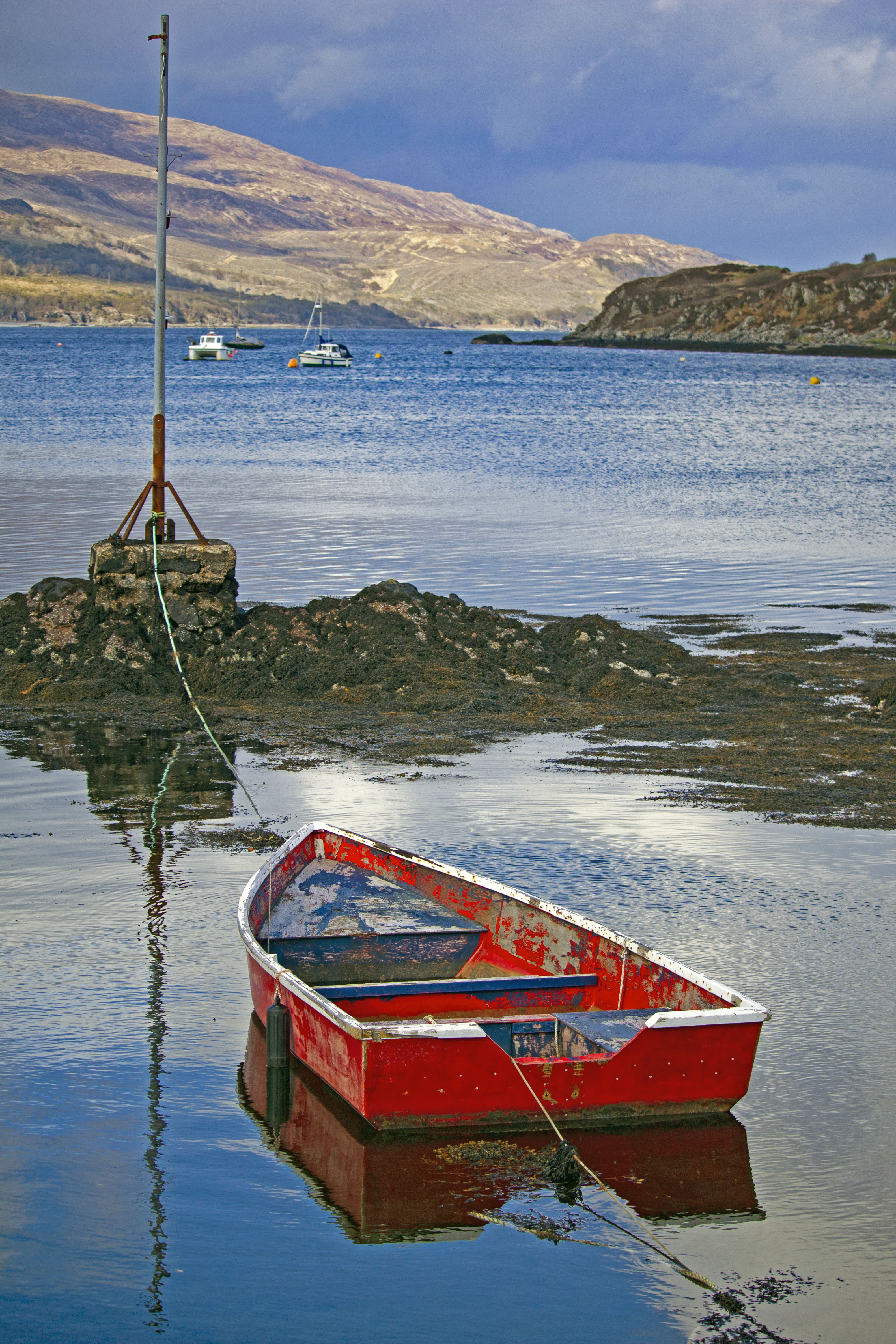 Red Boat on Water Scotland
