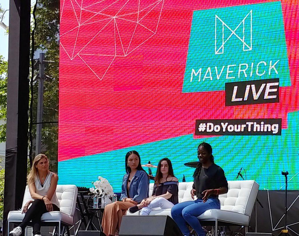 Maame Biney Daunnette Reyome Hannah Alper Speakers at Maverick 2018