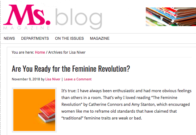 Are You Ready for the Feminine Revolution? Ms. Magazine by Lisa Niver