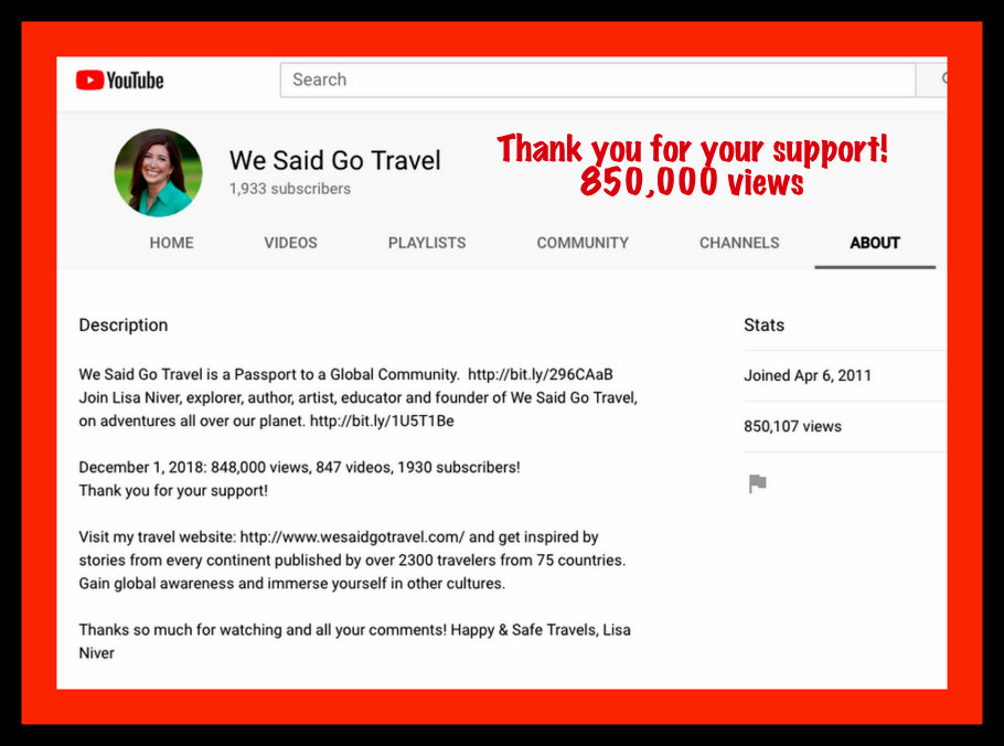 We Said Go Travel YouTube 850000 views 2018