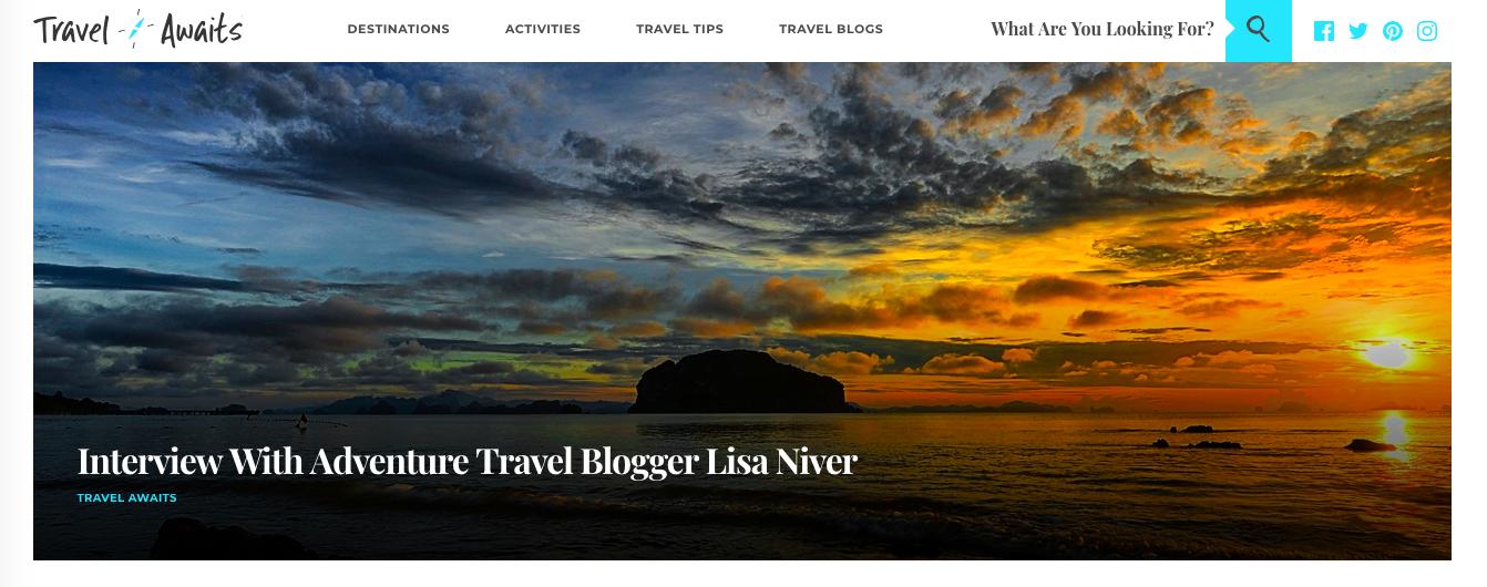 Travel Awaits Interview Lisa Niver