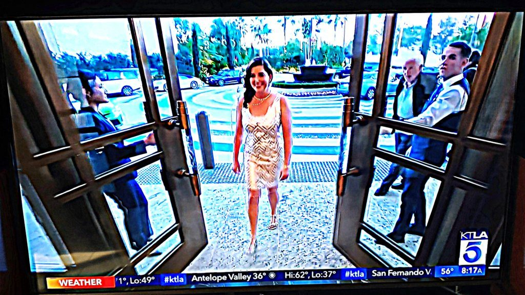 Lisa Niver at Waldorf Astoria Beverly Hills on KTLA TV