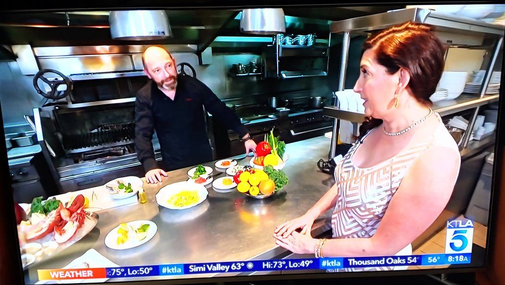 Lisa Niver and Chef Steve Benjamin at Jean George Beverly Hills