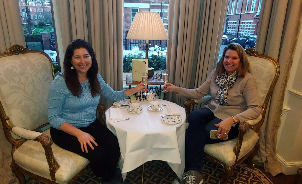 Lisa and Julie at High Tea at the Egerton House Hotel