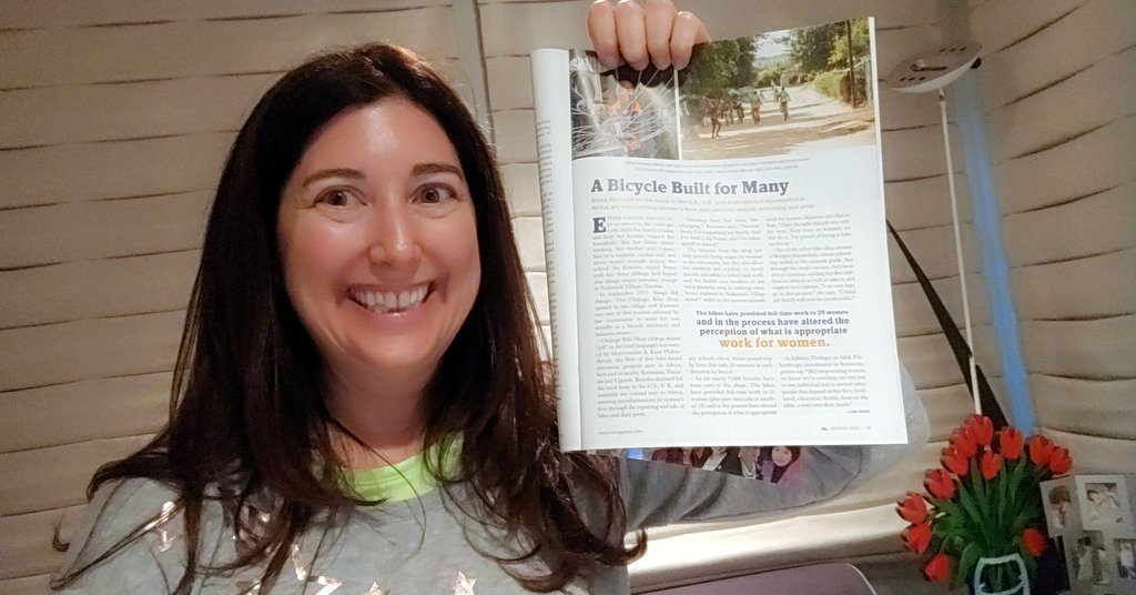 Lisa Niver with her print article in Ms. Magazine!