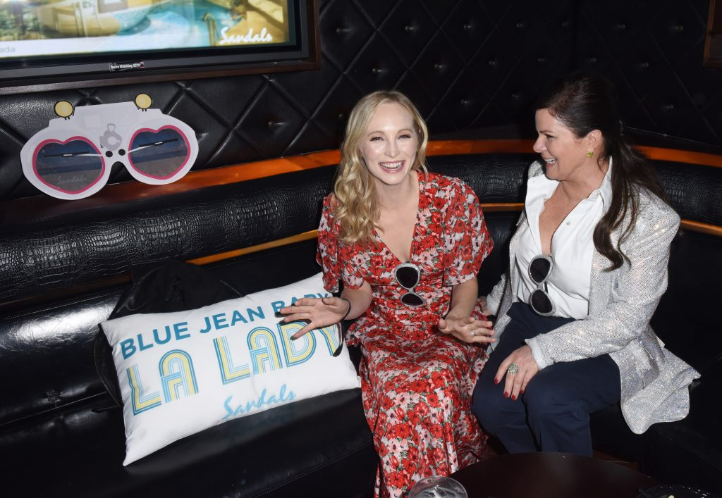 Candice King and Marcia Gay Harden Sandals Resorts Hosts Private Event in the Hyde Lounge inside Staples Center at the Elton John Farewell Concert