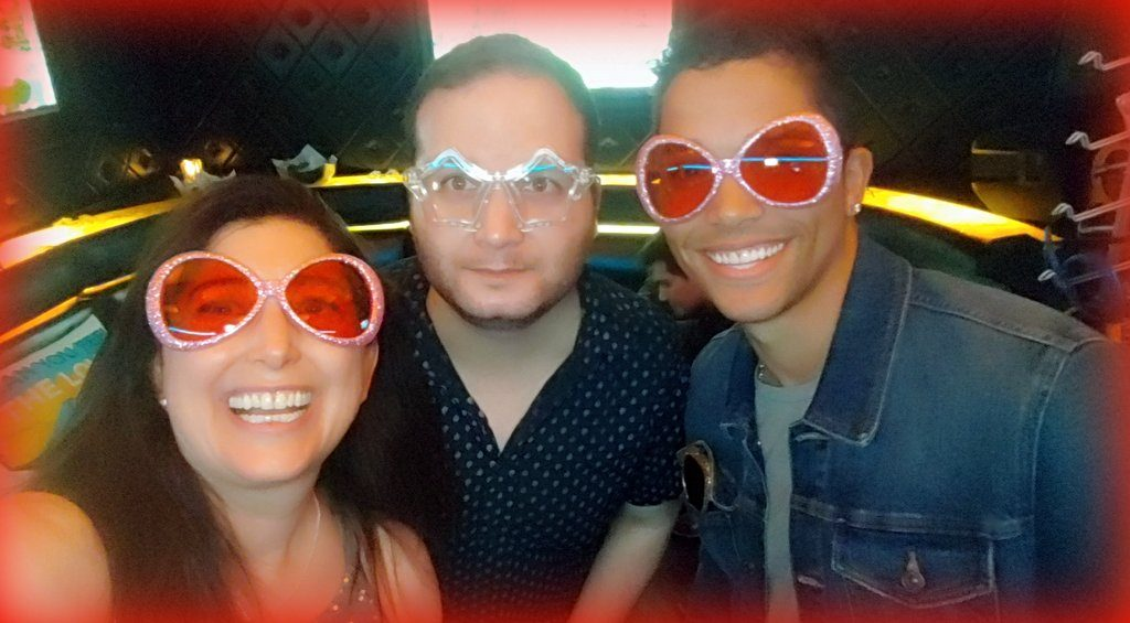 Lisa Niver, Joe Siyam and Brandon Manzonelli with Sandals Resorts at Hyde Lounge