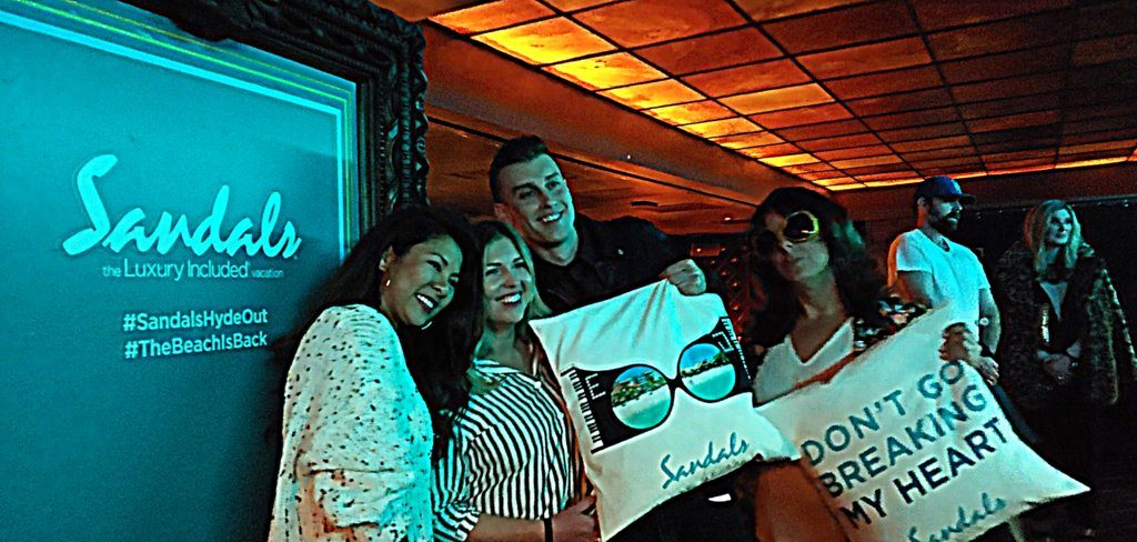 Thank you to Sandals Resorts for an amazing concert experience at Hyde Lounge!