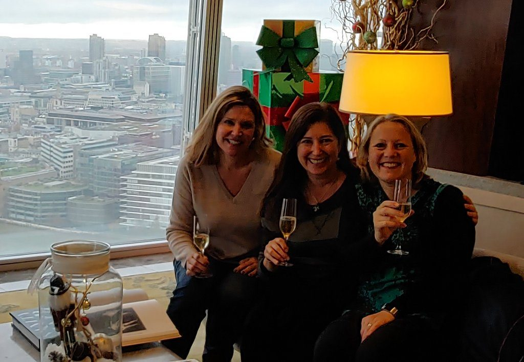Julie, Lisa and Nancy at Shangri-La Hotel, At the Shard, London