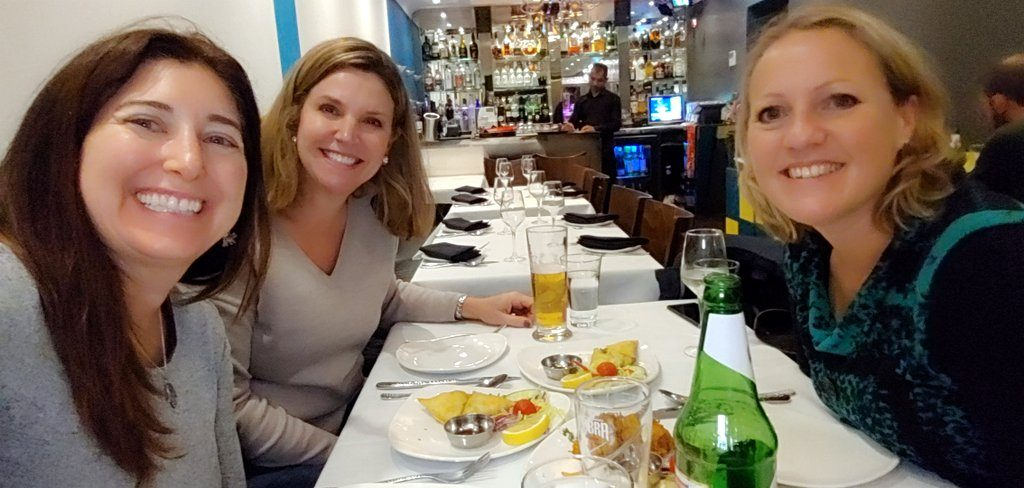 Nancy, Julie and Lisa at lunch in London!
