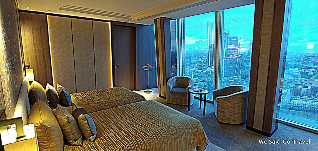 Our room at Shangri-La Hotel, At the Shard, London by Lisa Niver