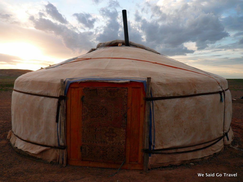 A ger, our home in Mongolia by Lisa Niver