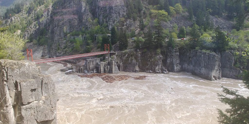 Hells Gate from Rocky Mountaineer Train by Lisa Niver