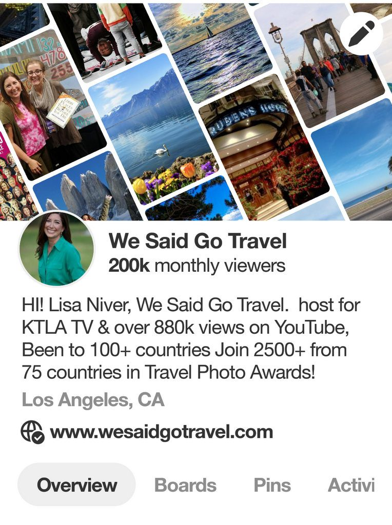 Pinterest 200000 monthly views on We Said Go Travel