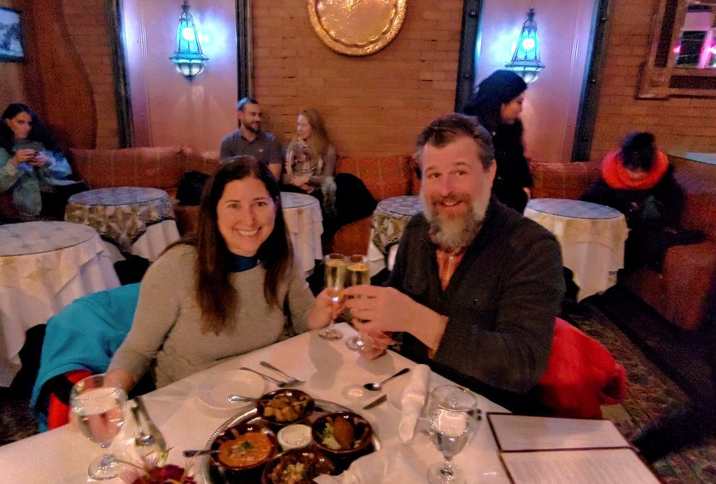 Dining in Salt Lake City at Mazza with Jeremy Pugh