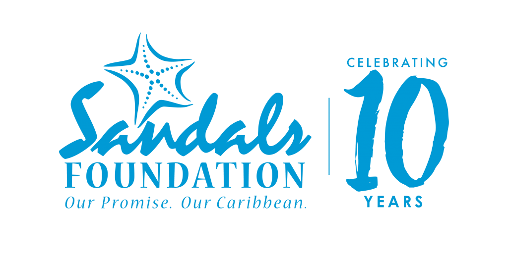 Sandals Foundation Logo 10 year