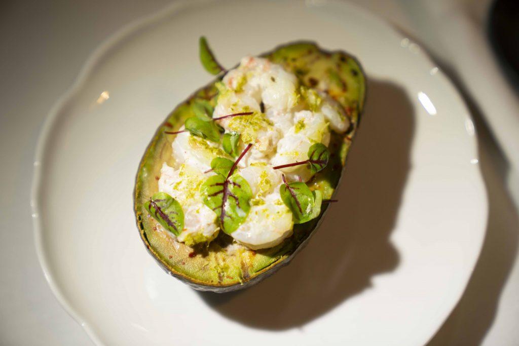 Chef Cosentino's Hong Kong Airlines' Business Class Menu: Charred Avocado Shrimp Louie