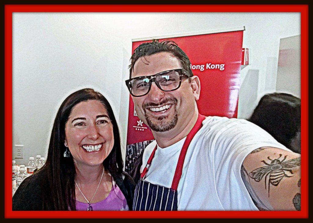 Lisa Niver and Chef Chris Coentino