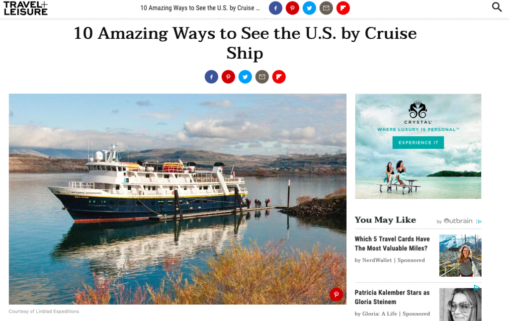 Lisa Niver is a cruise and travel expert for Travel and Leisure