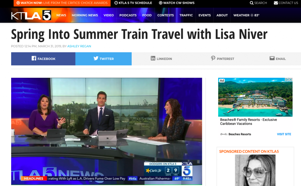 Lisa Niver on KTLA TV March 31 2019