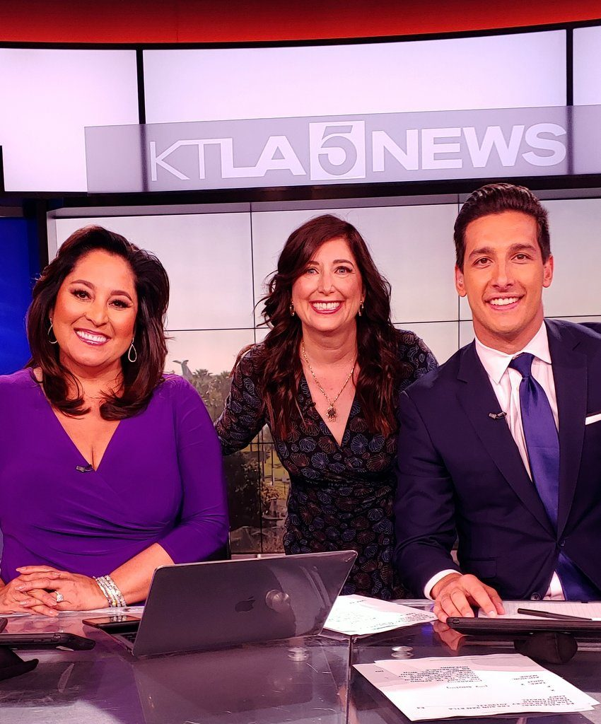 Lynette Romero, Lisa Niver and Mark Mester on KTLA TV March 31. 2019