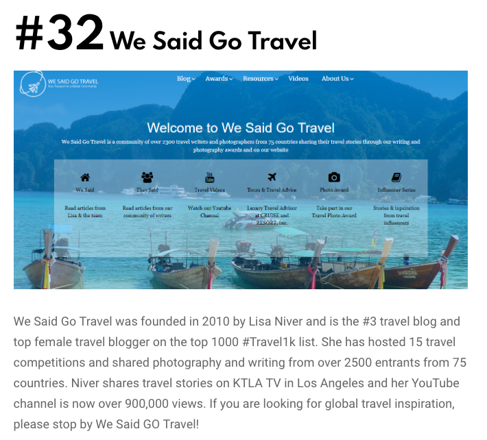 We Said Go Travel Top 50 Most Amazing Travel Blogs