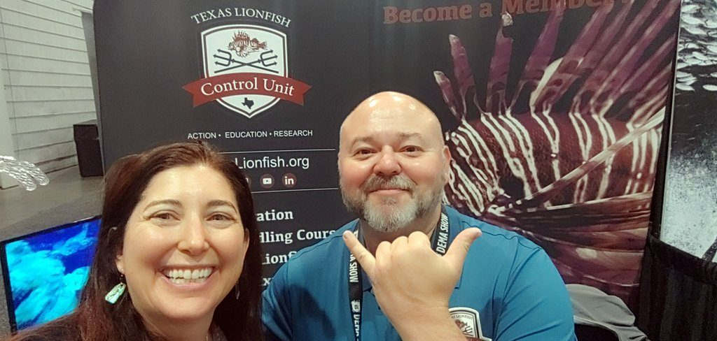 Texas Lionfish control Unit Brady Hale and Lisa Niver