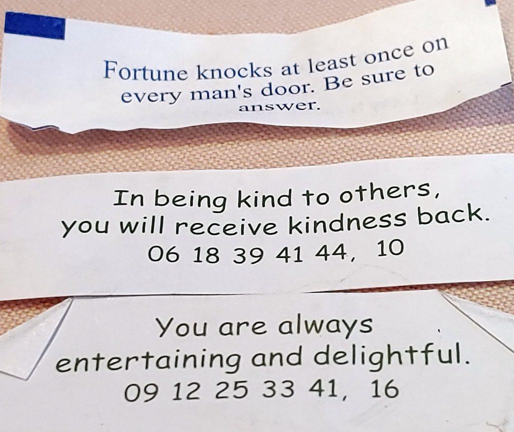 3 fortune cookies