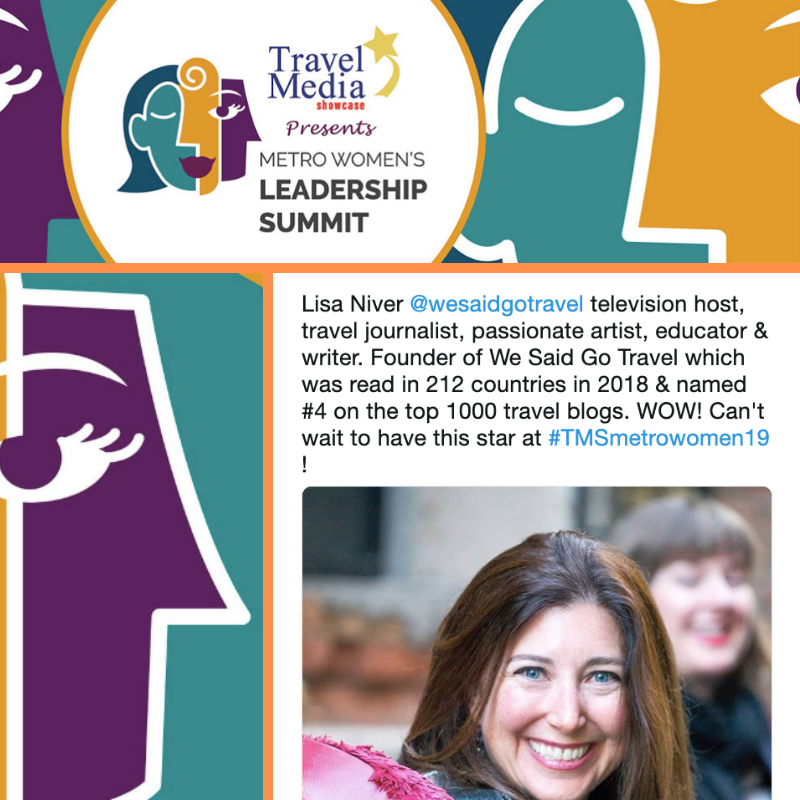 Lisa Niver speaking at Metro Womens Leadership Summit
