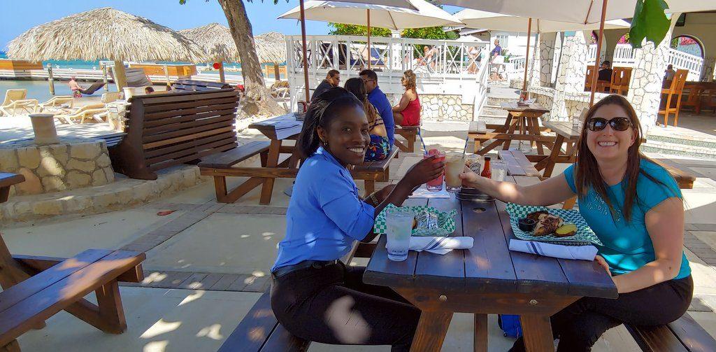 Lunch at The Jerk Shack, Sandals Montego Bay