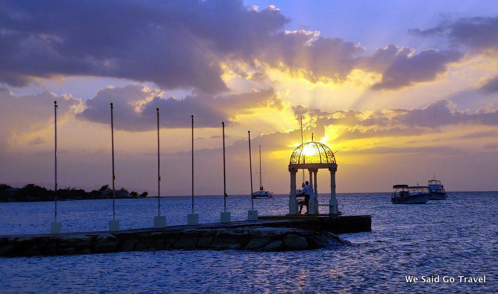 Sunset at Sandals Montego Bay by Lisa Niver