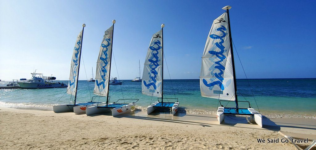 Sailboats Sandals Montego Bay by Lisa Niver