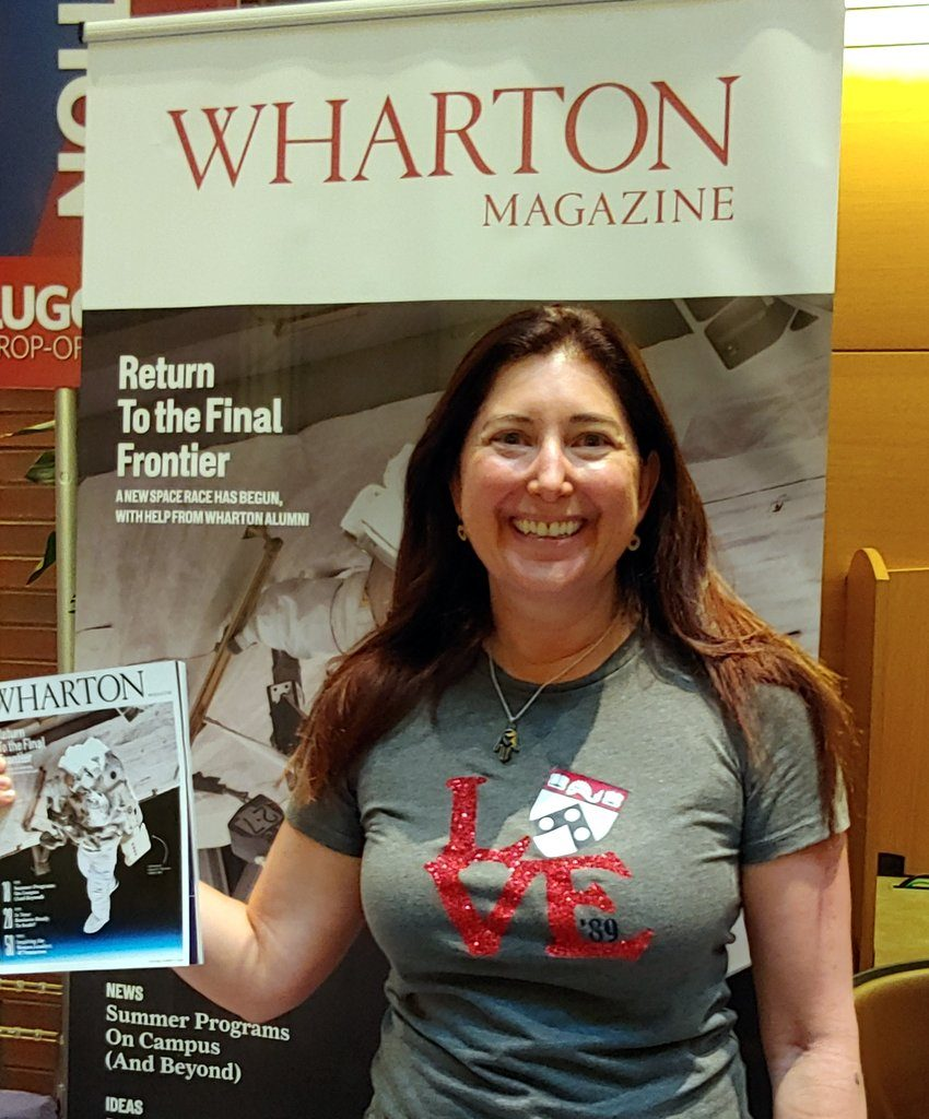 Lisa Niver at Wharton School University of Pennsylvania 2019 Alumni reunion