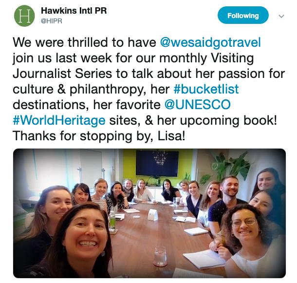 Lisa Niver in NYC at Hawkins PR