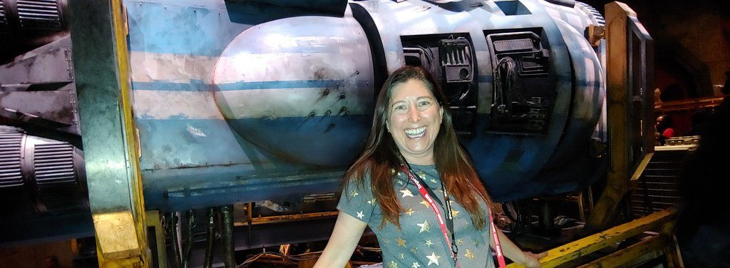 LIsa Niver at Star Wars Galaxy's Edge
