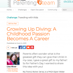 TODAY Growing up scuba diving by Lisa Niver