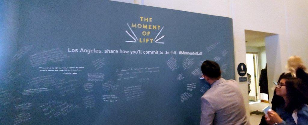 Lisa Niver at Melinda Gates book talk, The Moment of Lift