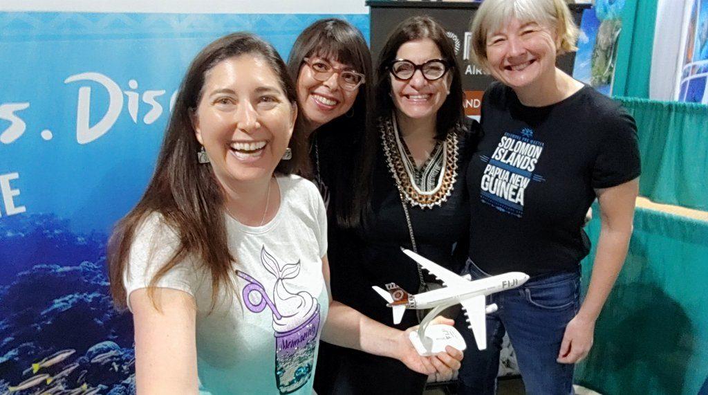 Lisa Niver Scuba Show 2019 Fiji Air and Solomon Islands