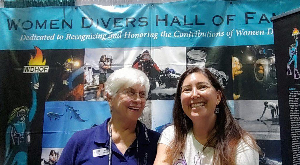 Lisa Niver Meg Donat Women Divers Hall of Fame Scuba Show 2019
