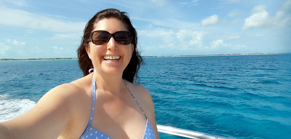 Lisa Niver diving at Beaches Turks and Caicos