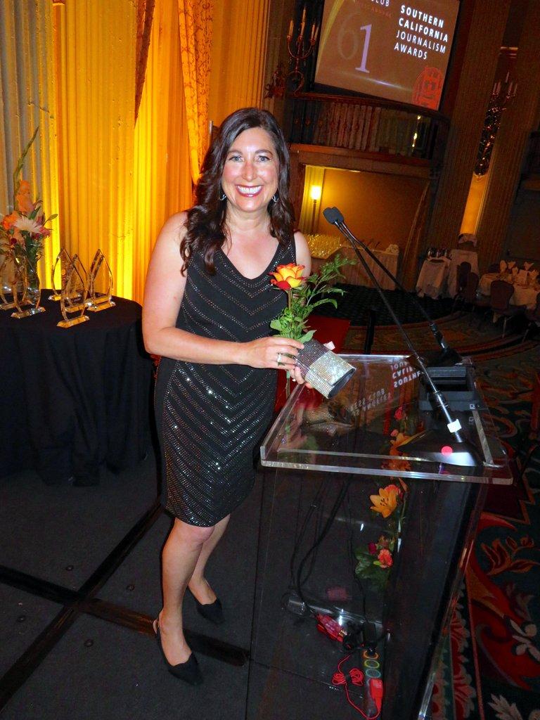 Lisa Niver at Los Angeles Press Club Awards 2019