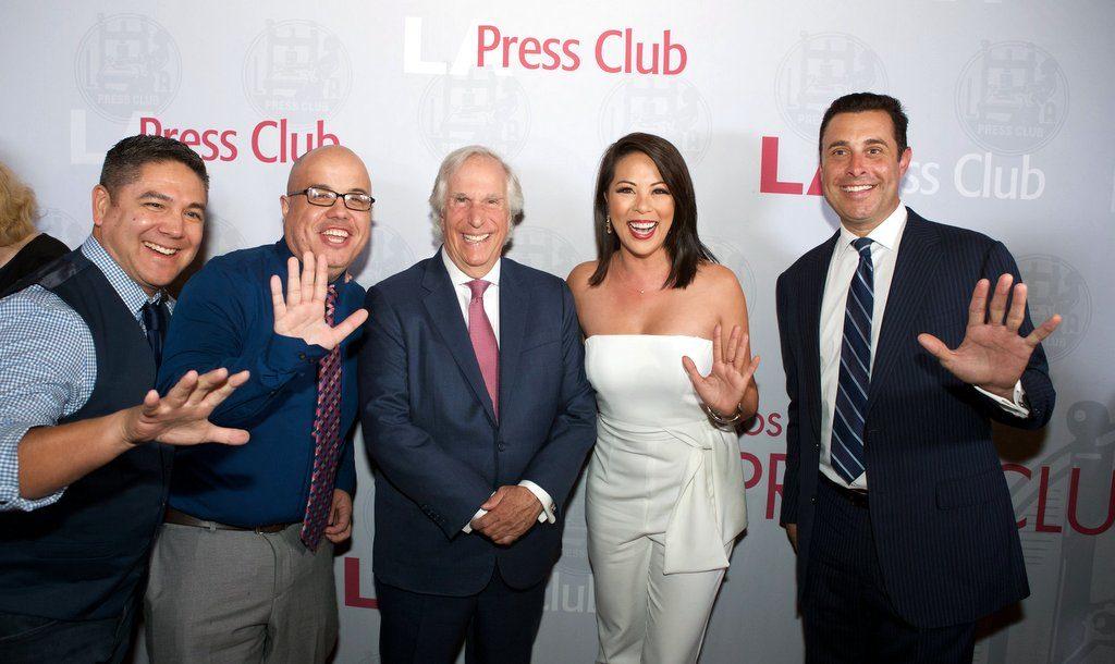 KTLA 5 with Henry Winkler at 2019 Press Club Awards