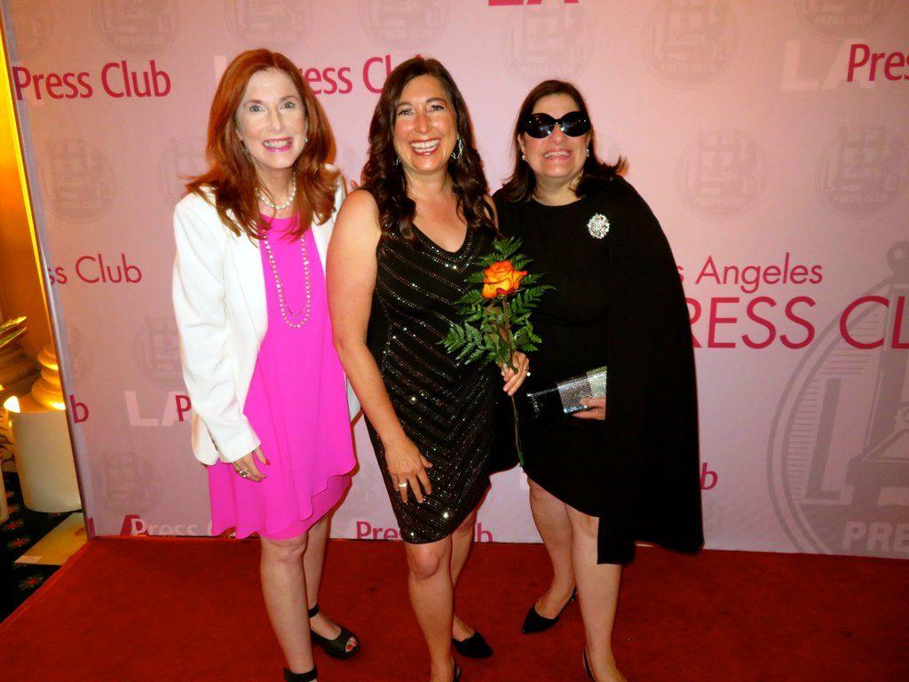 Liz H. Kelly, Lisa Niver and Susan Bejeckian at LA Press Club Awards 2019