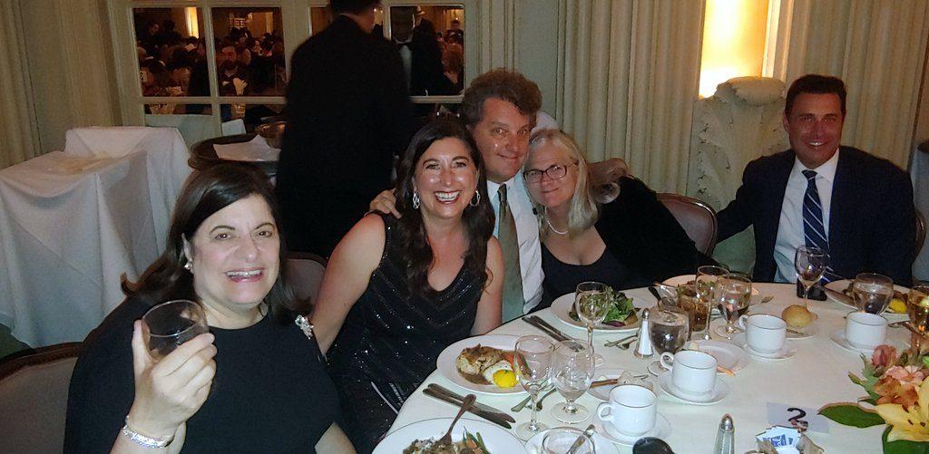 KTLA table at 2019 Press Club Awards with Steve Burrows