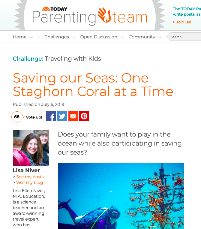 TODAY Saving Our Seas by Lisa Niver